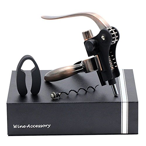 Sugoiti Bronze Flaschenöffner Weinöffner Kaninchen Stil Korkenzieher Sommelier Set mit Folienschneider und einer Extraspirale ? Bar Wein Accessoires und Geschenke