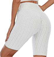 Lushforest Women High Waist Butt Lifting Yoga Shorts Anti Cellulite Five Points Yoga Pants