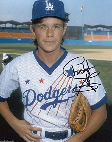 christopher-atkins-signed-wearing-la-dodgers-uniform-color-8x10-photo-with-coa