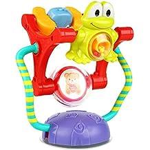 Peradix Juguete Electrónico Sonajeros y Aros de Animales para Bebé Sucker Juguete para Infantil Cochecito de Bebé