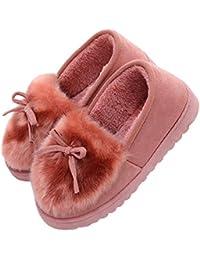 Kanggest.Mujer Zapatillas de Estar Invierno casa Cerradas Calienta con Comodidad Pantuflas Zapatillas de Estar