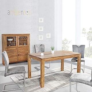 ambientica Esstisch Küchentisch Elegance 140x90cm Indischer Palisander (Sheesham/Shisham) Poliert & Lackiert - Designermöbel