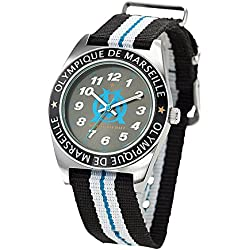 Olympique de Marseille - om8008 - Boys 'Watch - Analogue Quartz - Black Dial Nylon Bracelet Multi-Coloured