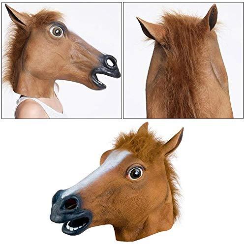 hifuture Gummimaske Latex Maske Halloween Maske Geschenke Für Männer Maskerade Bar Dekoration Kühle Form Silikon-Pferdekopf Maske Kopfbedeckung