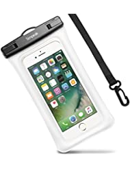 Housse Étanche Certifié IPX8, Simpeak Universelle Pochette téléphone étanche Waterproof, Housse Etui Etanche (5,8 Pouces) Crystal Clear pour Apple iPhone 7/ 7 Plus, iPhone 6/ 6S/ 6S Plus, iPhone SE/ 5S/ 5/ 5C, Suamsung Galaxy J3/ J5/ J7/ A3/ A5/ S7/ S7 Edge/S6/S6 Edge/Note 4, Huawei P8/P8 Lite/P9/P9 Lite Smartphones - Rouge