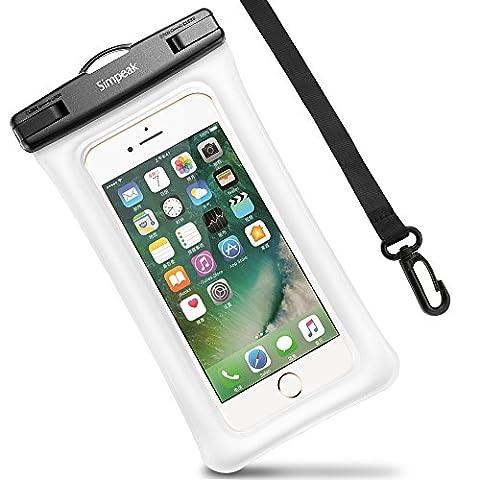 Housse Étanche Certifié IPX8, Simpeak Universelle Pochette téléphone étanche Waterproof, Housse Etui Etanche (5,8 Pouces) Crystal Clear pour Apple iPhone 7/ 7 Plus, iPhone 6/ 6S/ 6S Plus, iPhone SE/ 5S/ 5/ 5C, Suamsung Galaxy J3/ J5/ J7/ A3/ A5/ S7/ S7 Edge/S6/S6 Edge/Note 4, Huawei P8/P8 Lite/P9/P9 Lite Smartphones - Rouge