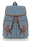 malito Damen Rucksack | Handtasche in trendigen Farben | Tasche mit vielen Mustern - Schultasche R800 (blau 2350)