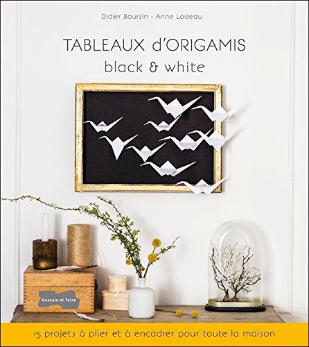 Tableaux d'origamis black & white: 15 projets  plier et  encadrer pour toute la maison