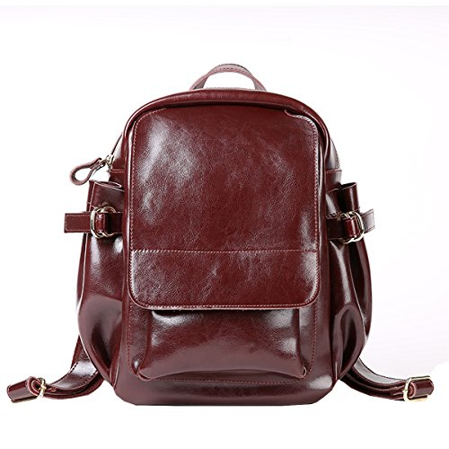 E-Girl Q0890 Damen Leder Handtaschen Satchel Tote Taschen Schultertaschen Kaffee