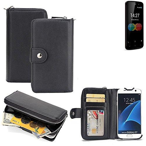 K-S-Trade 2in1 Handyhülle für Allview P6 eMagic hochwertige Schutzhülle & Portemonnee Tasche Handytasche Etui Geldbörse Wallet Case Hülle schwarz