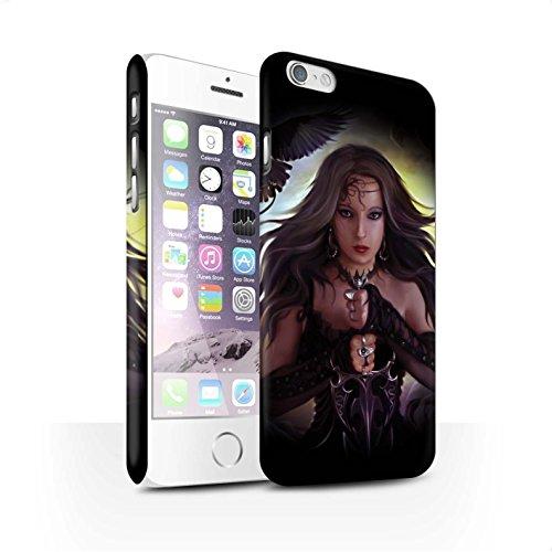 Officiel Elena Dudina Coque / Clipser Matte Etui pour Apple iPhone 6 / Pack 9pcs Design / Super Héroïne Collection Coeur Noir