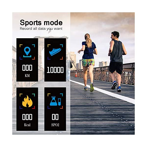 Konesky Fitness Tracker Monitor de Ritmo cardíaco Pulsera de presión Arterial Actividad Reloj Podómetro Contador de calorías Pulsera para Android iOS Smartphone 2