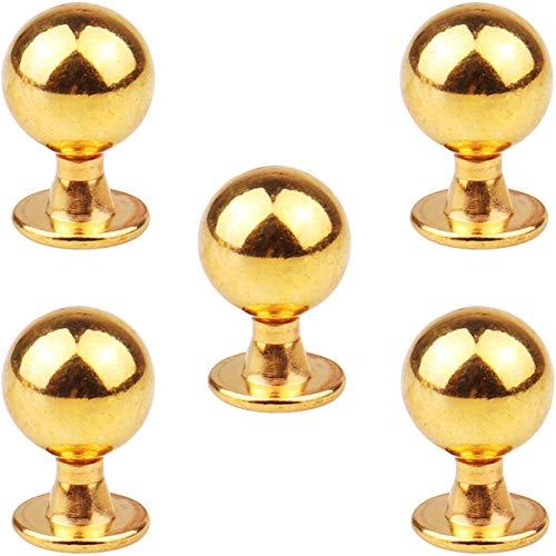 Schrank Knäufe, Tiberham 5 Stücke Möbelknöufe Schrankgriffe Kabinett Türgriffe Möbelgriff Türknauf Schubladenknopf mit Schrauben für Inneneinrichtung Küche Badezimmer (Türgriff Gold)