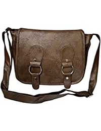Shopoholics Trendy Look Leather Slingbag / Cross Body Bag For Womens , Good In Size(Dark Brown)