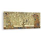 DìMò ART Druck auf Leinwand Gustav Klimt Der Lebensbaum (Yellow Edition) 100x50 cm