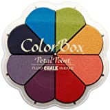 ColorBox - Tavolozza di colori primari, gesso liquido, con tamponi a forma di petalo, 8 colori pastello
