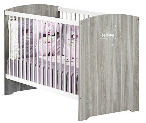BABY PRICE Smile Lit Chêne Silex 120 x 60 cm