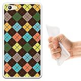 WoowCase Doogee Y300 Hülle, Handyhülle Silikon für [ Doogee Y300 ] Mehrfarbiger Schottenkaro Rhombus Handytasche Handy Cover Case Schutzhülle Flexible TPU - Transparent