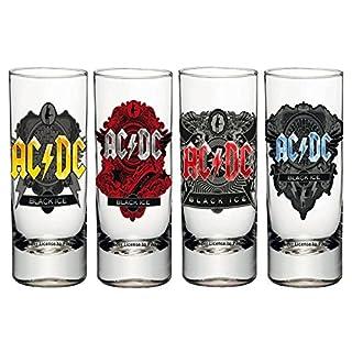 AC/DC Schnapsgläser, Glas, transparent, 4 x 4 x 10.5 cm