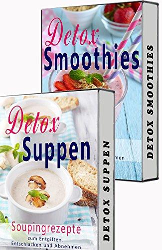 Gehen Diät-tee (Detox BOX: Smoothies zum Abnehmen, Souping, Detox Suppen, Detox Smooties, 2 in 1 SET, Matcha, Superfood (Low Carb, Detox, Abnehmen, Souping, Smoothies, Suppen, Superfood, Matcha Tee, Kokosöl))