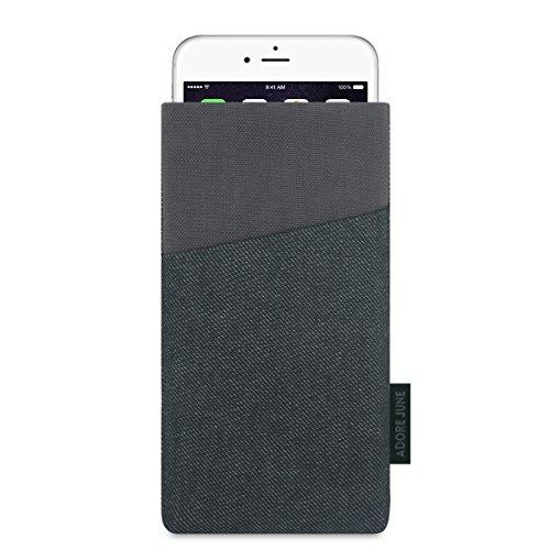 """Adore June iPhone 7 / iPhone 6S / iPhone 6 Hülle """"Clive"""" aus Jeans und original Cordura mit extra Fach. Elegante Handytasche aus widerstandsfähigem Textil-Stoff mit Display-Reinigungseffekt. Hochwertige Tasche als treuer Begleiter."""