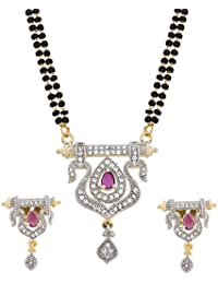 The Luxor Classic Australian Diamond Studded Designer Mangalsutra For Women