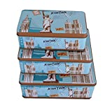 #8: Lifestyle-You (Set of 3) Novelty Multipurpose Tin Storage Boxes. Large Sizes. Makes a Very Nice Gift Too.