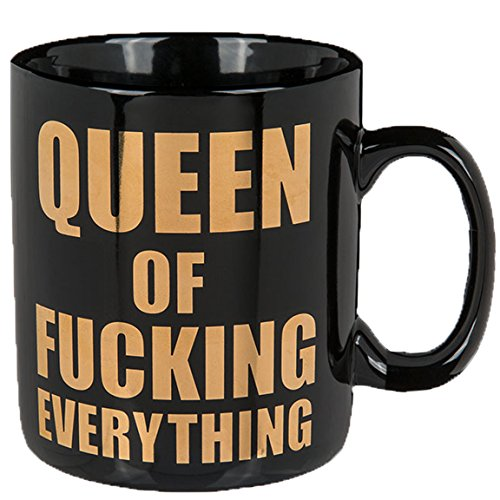 Bada Bing XL Tasse Kaffeebecher Queen Ca. 850 ml Spruch Kaffeetasse Küche Büro Geschenk 78