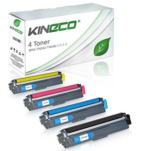 Preisvergleich Produktbild 4 Toner kompatibel zu Brother TN-242 TN-246 für Brother DCP9017CDWG1, MFC-9142CDN, HL3142CW, DCP-9017CDWG1, DCP-9022CDW, HL-3152CDW, MFC-9342CDW, HL-3172CDW, MFC-9332CDW - TN242 TN246 - Schwarz 2.500 Seiten, Color je 2.200 Seiten