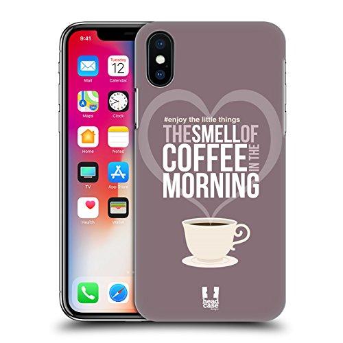Head Case Designs Musica Amare Le Piccole Cose Cover Retro Rigida per Apple iPhone X Caffe