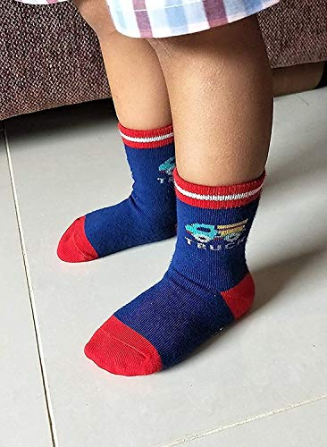 JonnyBaby® Socks for babies Multi color & Designs Pair of 6 (Size 0-2 Years)