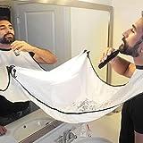 Bart-Lätzchenfänger, Rasierschürze mit Saugnäpfen, Bartpflege, Haarrasierschürze für Zuhause (weiß)