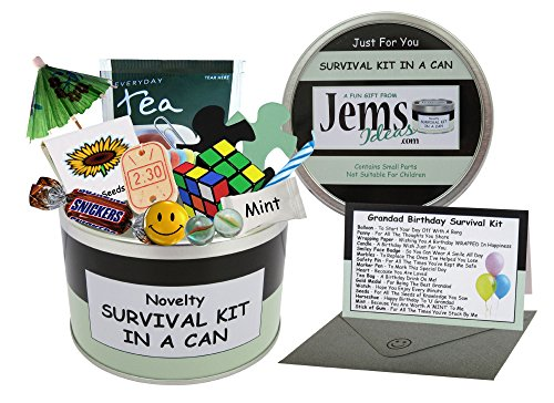 Grandad Birthday Survival Kit In A Can. Novelty Fun Gift - Humorous Granddad Present &