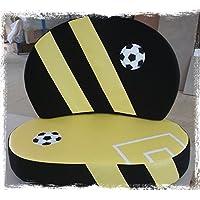 """Kindersofa """"Fußball schwarz/gelb"""", Made in Germany! preisvergleich bei kinderzimmerdekopreise.eu"""