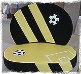 Kindersofa 'Fußball schwarz/gelb', Made in Germany!