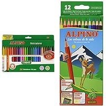 Alpino - Pack 24 unidades rotuladores de colores + 12 lapiceros de colores