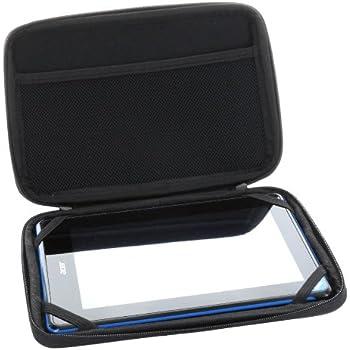 XiRRiX Hartschalentasche mit Nylon Oberfläche für Tablet PC Größe 7 Zoll (17,78cm) wie Samsung Galaxy Tab 2 P3100 / P3110 , Archos 70b , Lenovo IdeaPad Tablet A1 - A2107A, Acer Iconia B1 , Odys Boox und weitere kompatible 7 Zoll (17,78cm) Tablet PCs