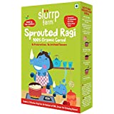 Slurrp Farm Organic Sprouted Ragi Powder | Instant Healthy Wholesome Food for Babies & Kids 250 g