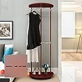 Kleiderablage ZCJB Kleiderständer Floorstanding Schlafzimmer Kleiderbügel Kleiderbügel Creative Coat Stand (Farbe : Matte Red Walnut)