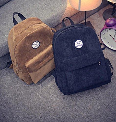 Imagen de esailq bolsos  de universitarias escolares mini casual para mujer niñas estudiantes. negro  alternativa