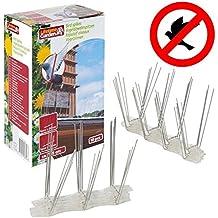Vetrineinrete® Dissuasori per piccioni e volatili a spillo 10 pezzi spuntoni in metallo per balconi e tetti per allontanare uccelli