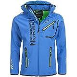 91A4 Amazon Geographical Norway Rainman Herren Softshell Jacke Blau M