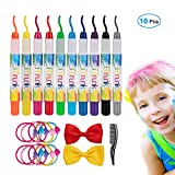 Craie pour cheveux, 10 stylos à craie iTrunk pour coloration des cheveux et...