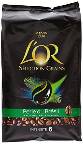 L'OR Café Origine Perle du Brésil en Grains 500g - Lot de 6