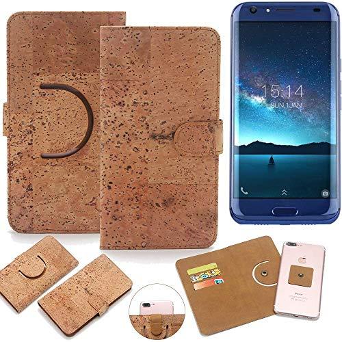 K-S-Trade Schutz Hülle für Doogee BL5000 Handyhülle Kork Handy Tasche Korkhülle Schutzhülle Handytasche Wallet Case Walletcase Flip Cover Smartphone Handyhülle