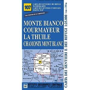 Chamonix Cartina Geografica.Leggere Carta N 107 Monte Bianco Courmayeur Chamonix La