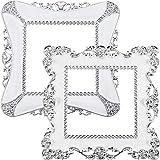 2 Stück Kunststoff Quadrat Lichtschalter Aufkleber, Kunstvolle Weiße Harz Abdeckung Dekoration Aufkleber