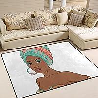 Ingbags Super Doux moderne africaine Femme Zone Tapis Tapis de salon Chambre à coucher Tapis pour enfants jouer solide Home Decorator Sol Tapis et moquettes 160x 121,9cm, multicolore, 80 x 58 Inch