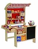 Tanner 0340.6 - Großer Kaufladen aus Holz mit Jalosie und Tafel