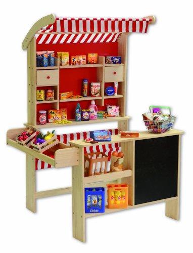Preisvergleich Produktbild Tanner 0340.6 - Großer Kaufladen aus Holz mit Jalosie und Tafel